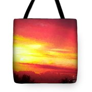 Digital Oil Painting Of Sunset Tote Bag