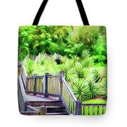 Digital Paint Landscape Jefferson Island  Tote Bag
