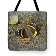 Digital Red Admiral Butterfly - Vanessa Atalanta Tote Bag