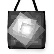 Digital Rose. Black And White Tote Bag