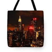 Digital Sunset Tote Bag