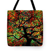 Digital Tree Impressionism Pixela Tote Bag
