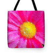 Digital Watercolour Of A Pink Daisy Pollen Flower Tote Bag