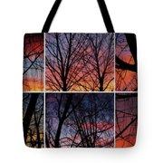 Digital Winter Trees Tote Bag