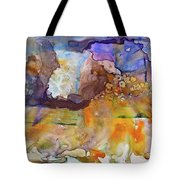 Digital_blue And Orange Orgasm Tote Bag