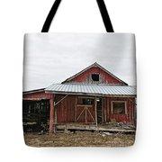 Dilapidated Old Barn Tote Bag