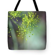 Dill Abstract On Mint Green And Plum Tote Bag