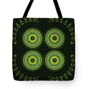 Dill Weed Flower Wheels Tote Bag