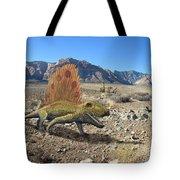 Dimetrodon In The Desert Tote Bag