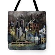 Dinant Watercolor Tote Bag