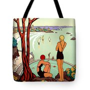 Dinard, French Riviera, Two Swimmers  Tote Bag