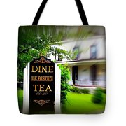 Dine Le Bistro Tea Tote Bag