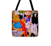 Diners At La Lutetia Tote Bag