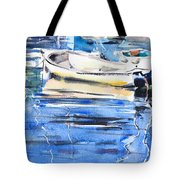 Dinghies At High Tide Tote Bag