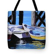 Dinghies At The Dock Tote Bag