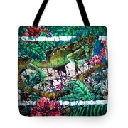 Dining At The Hibiscus Cafe - Iguana Tote Bag
