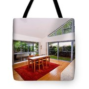 Dining Room With Slanted Ceiling Tote Bag
