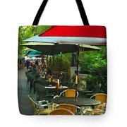 Dining Under The Umbrellas Tote Bag