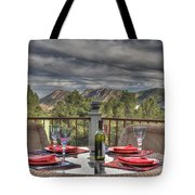 Dining With A View Tote Bag