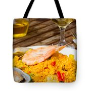 Dining With Paella Tote Bag