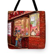 Dinner At The Main Steakhouse Tote Bag