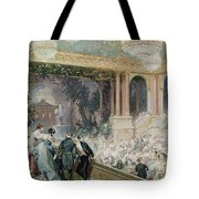 Dinner At The Tuileries Tote Bag by Henri Baron