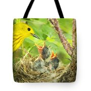 Dinner At The Warblers Tote Bag