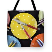 Dinner Party Table Setting Tote Bag