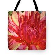 Dinner Plate Dahlia Flower Art Print Orange Baslee Troutman Tote Bag