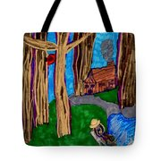 Dinner In The Woods Tote Bag