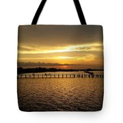 Dinning With Sunset  Tote Bag