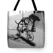Dinosaur Biking Sculpture Grand Junction Co Tote Bag
