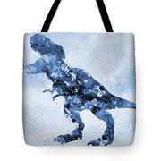 Dinosaur Rex-blue Tote Bag