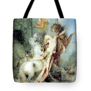 Diomedes Devoured By His Horses Watercolour Gustave Moreau Tote Bag