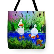 Dipping Duckies - Furry Forest Friends Mural Tote Bag