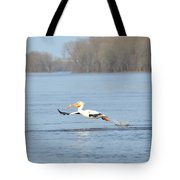 Dipping His Toes In The Water Tote Bag