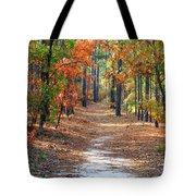 Autumn Scene Dirt Road Tote Bag