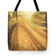 Dirt Road Sunrise Tote Bag