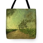 Dirt Road To The Fields Tote Bag