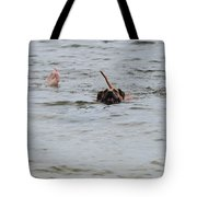 Dirty Water Dog And Feet Tote Bag