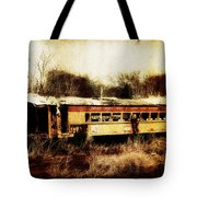 Discarded Train Tote Bag
