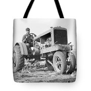 Discing The Field Tote Bag