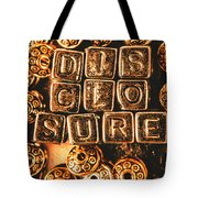 Disclosure Tote Bag