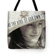 Discover Yourself Quote Tote Bag