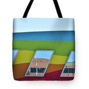 Discovery Science Center Window Reflection Tote Bag