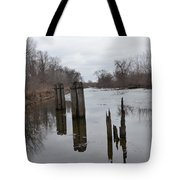 Disintegration Of Time Tote Bag