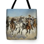 Dismounted The Fourth Troopers Moving The Led Horses Tote Bag