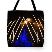 Disney Castle Fireworks Tote Bag