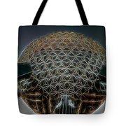 Disney Epcot Glowing At Night Tote Bag by Ericamaxine Price