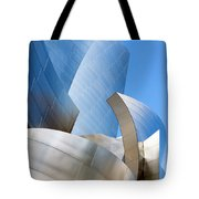 Disney Hall In Blue And Silver Tote Bag by Lorraine Devon Wilke